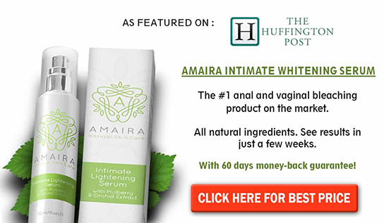 Amaira intimate whitening serum banner